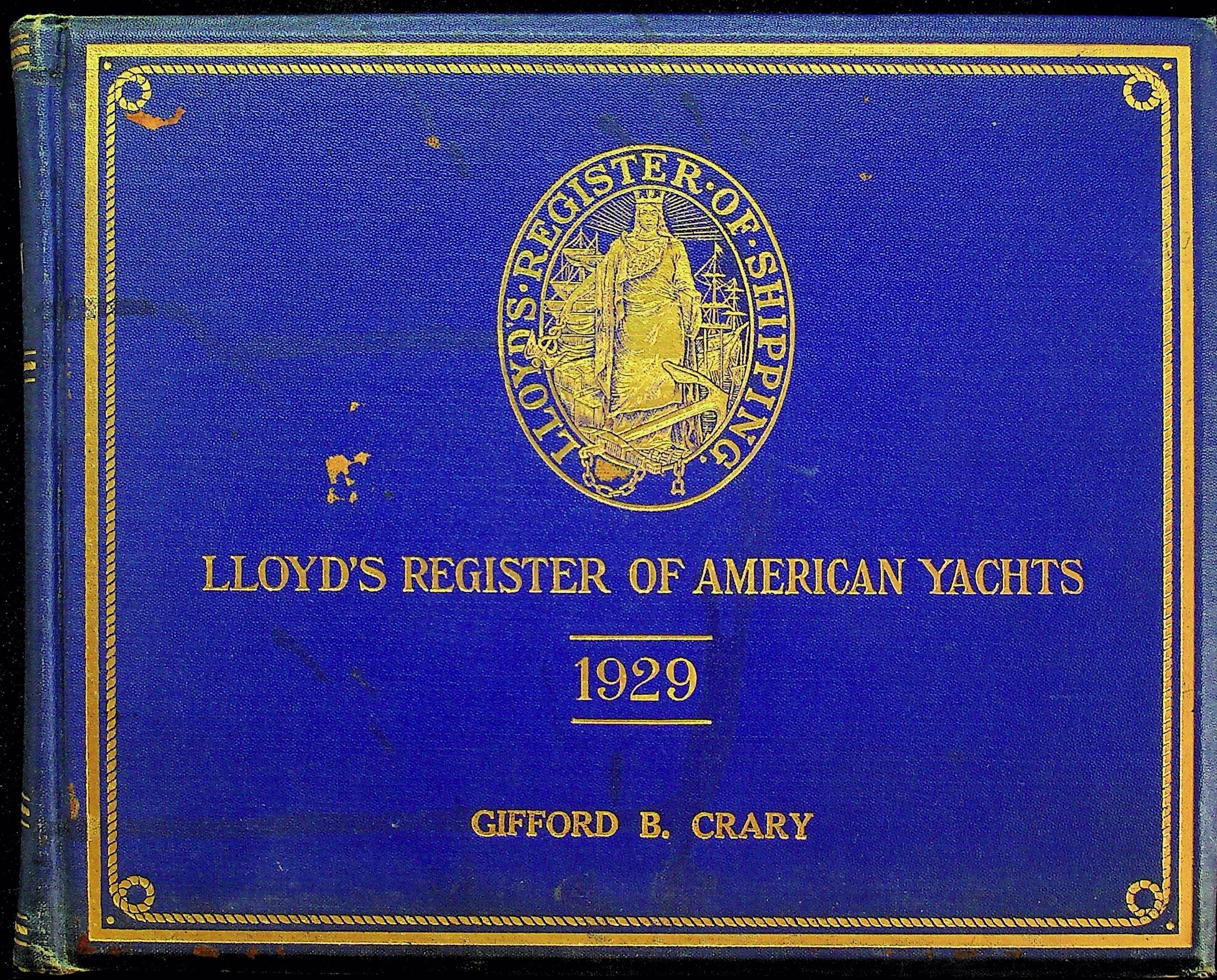 Image for Lloyd's Register of American Yachts 1929